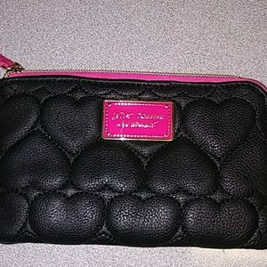 Betsey Johnson Coin Purse Black/Pink Women's